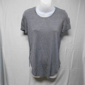 Mudd stretch gray short sleeve top S